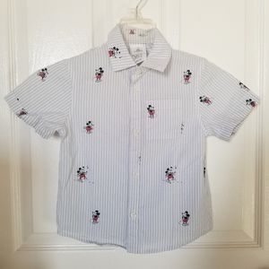 Mickey Mouse Boys 4T Collared Shirt
